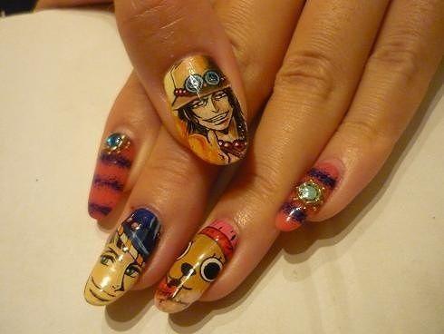 cool anime nail designs