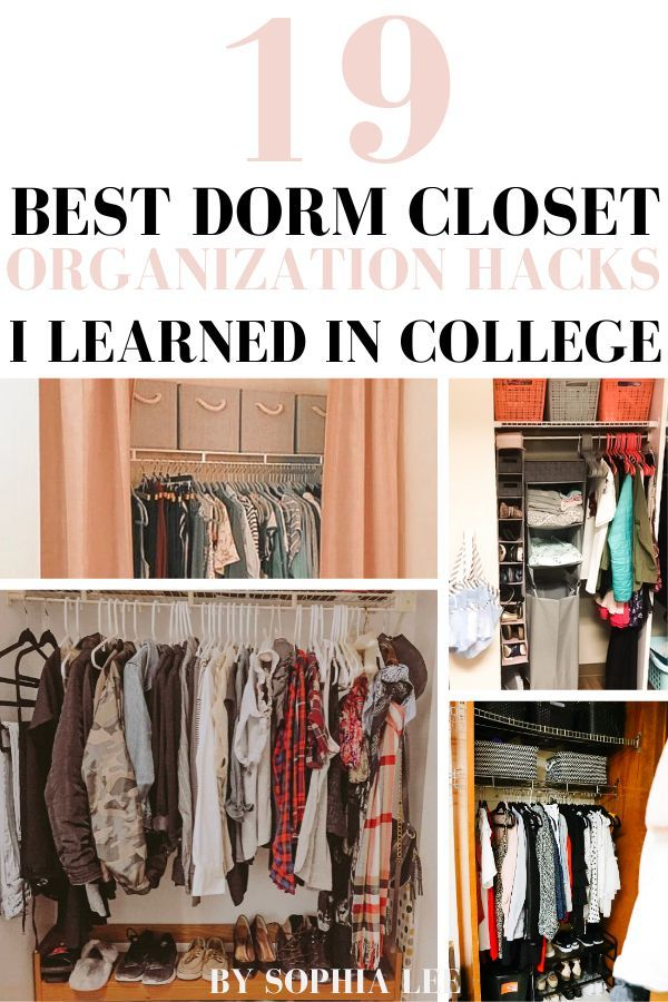 Dorm Room Closet: 19 Genius Dorm Closet Organization Ideas That Will Change