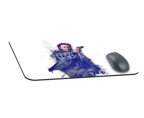 Decorative Mouse Pads John Wick Movie Poster Art Actor Mouse Pad Thick 3MM Non Slip Gaming Mousepad Home and Office In 8.7X7.1In