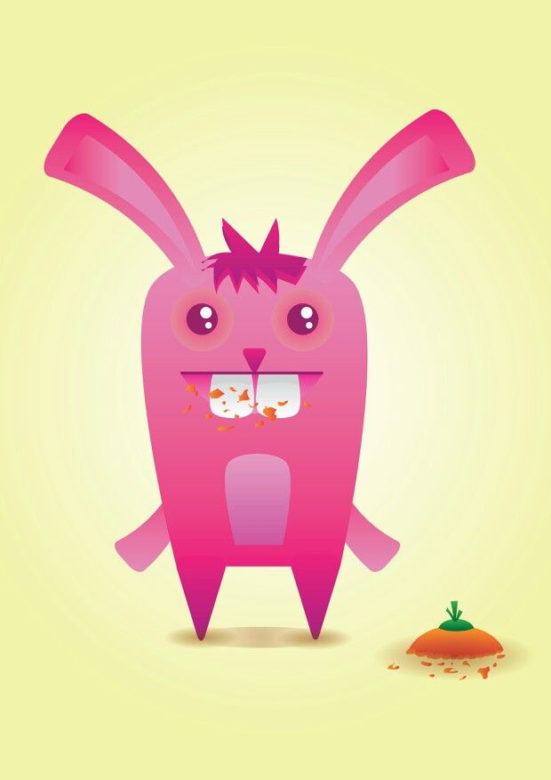 Simple Bunny illustration by Hillary Njo