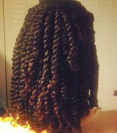 Lovely two strand twist. To learn how to grow your hair longer click here - http://www.shorthaircutsforblackwomen.com/top-50-best-selling-natural-hair-products-updated-regularly/