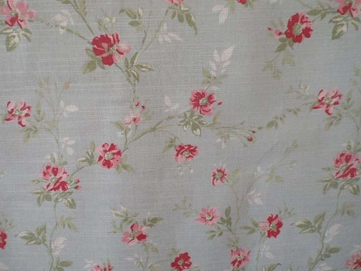 Pretty bedroom idea: Primrose Duckegg Blue and Pink Floral Fabric.
