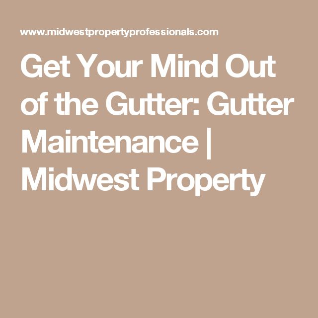 Get Your Mind Out of the Gutter: Gutter Maintenance ...