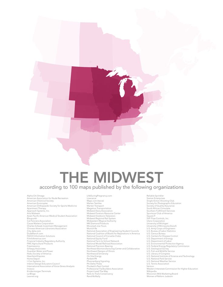 The Midwest According To Various Sources With Images Map Cartography Europe Map