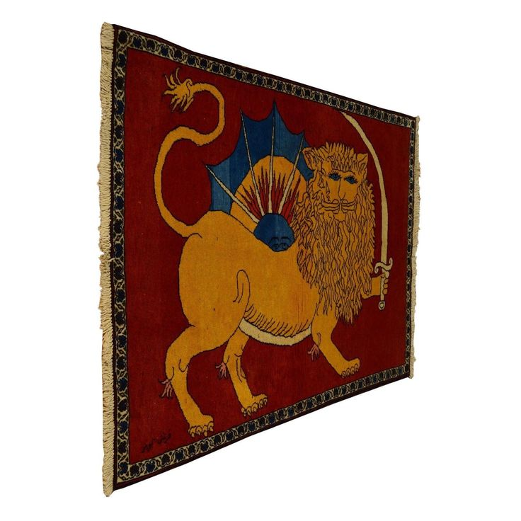 1800getarug Refurbished Achaemenid Empire Signed Pictorial Persian Shiraz Area Rug