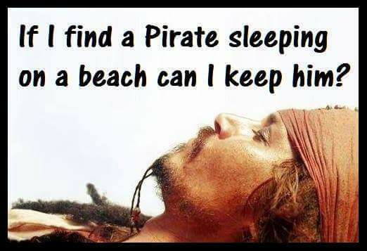 Only if it's Captain Jack!