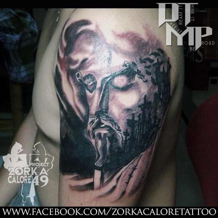 Jesus tattoo by Zorka Calore Tattoo