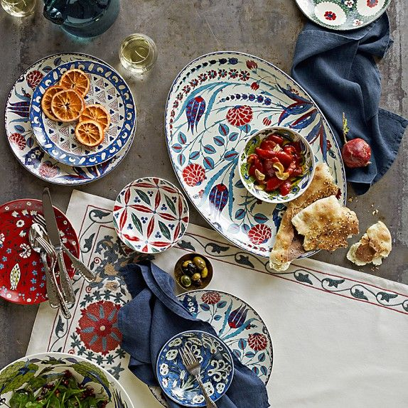 Turkish-inspired Collection from William Sonoma Includes Iznik Condiment Bowls Set of 4 & 31 best Dinner ware images on Pinterest | Dishes Ceramic pottery ...