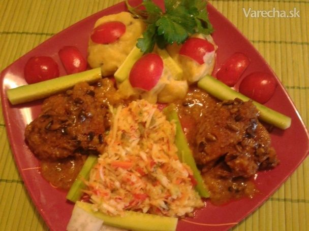 Kuracia pečienka zapečená v strúhanke (fotorecept) - Recept