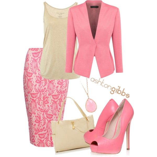 Girly Business Outfit, created by ashtongibbs on Polyvore