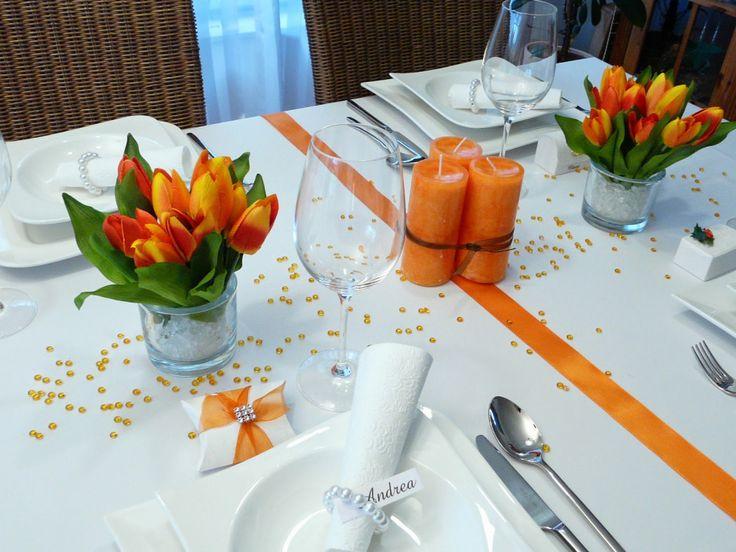 13 besten tischdekoration orange bilder auf pinterest bastelanleitungen farben und jahreszeiten. Black Bedroom Furniture Sets. Home Design Ideas