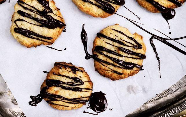 Kokos-marcipan-cookies | PCOS-venlige, hvis rørsukker erstattes med Sukrin og der bruges Easis Marcipan 😉