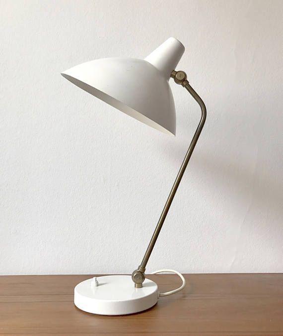 Alfred Muller Desk Lamp Amba Tischleuchte Messing Weissmetall Etsy Schreibtischlampe Tischleuchte Lampe