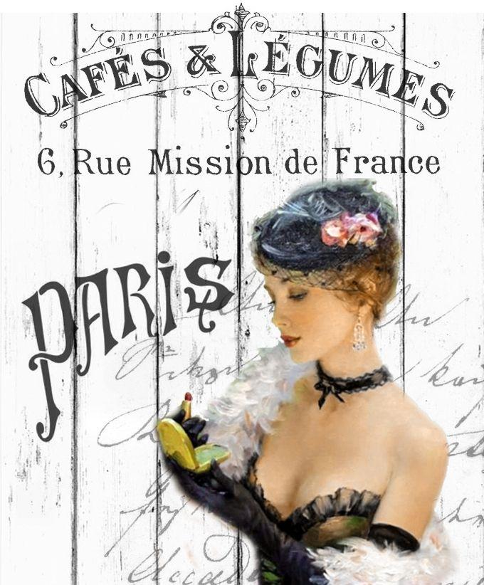 Cafe legumes vintage digital collage p1022 free to use <3