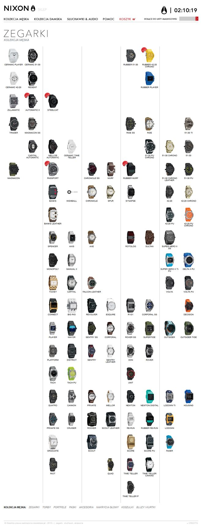 N-store website - click for more: http://www.design-pro.com.pl/nixon,56.html