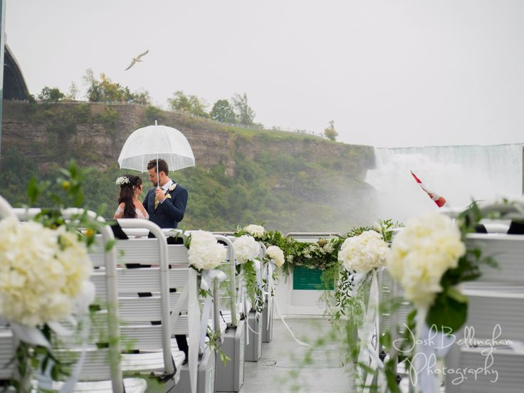 Flower Details Aboard The Guardian A Boat Intended For Weddings Under Niagara Falls Hornblower