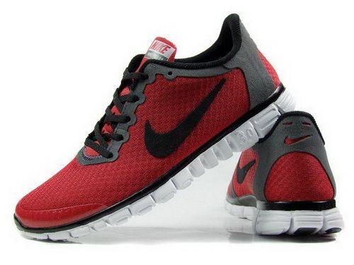 Nike Free 3.0 Mens Shoes Red Black Grey