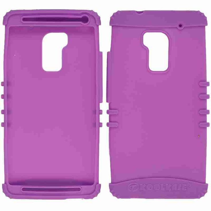 Rocker Series Silicone Skin Protector Case for HTC One Max (Light Purple)