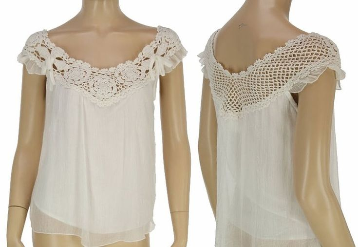 crochet top of a shirt, i really want to do this