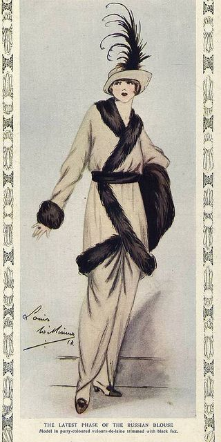 """Paul Poiret - French couturier during the 1910's known as the """"King of Fashion"""" to Americans, and was considered the most fashionable dress designer of pre-World War I Paris"""