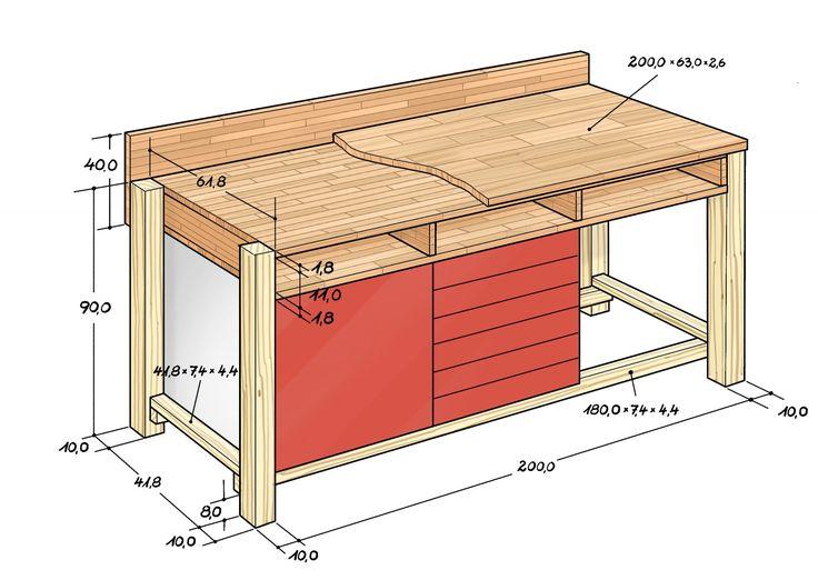 die besten 25 werkbank selber bauen ideen auf pinterest. Black Bedroom Furniture Sets. Home Design Ideas