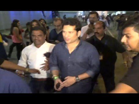Sachin Tendulkar at Global Citizen India Festival 2016.