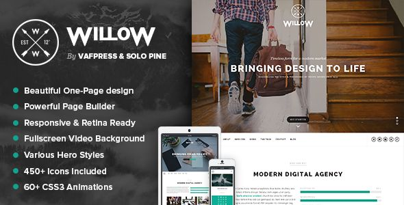 Willow - A One Page Multi-Purpose Theme