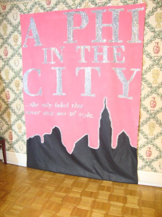 Banners / Posters | Alpha Phi | A Phi in the City, so cute! #greek #sorority #recruitment