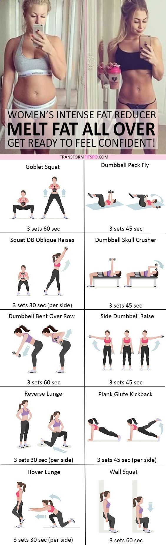 """Skinny Workout - #womensworkout #workout #femalefitness Repin and share if this workout helped you melt fat all over! Click the pin for the full workout. Watch this Unusual Presentation for the Amazing """"6-Minutes to Skinny"""" Secret of a California Working Mom"""