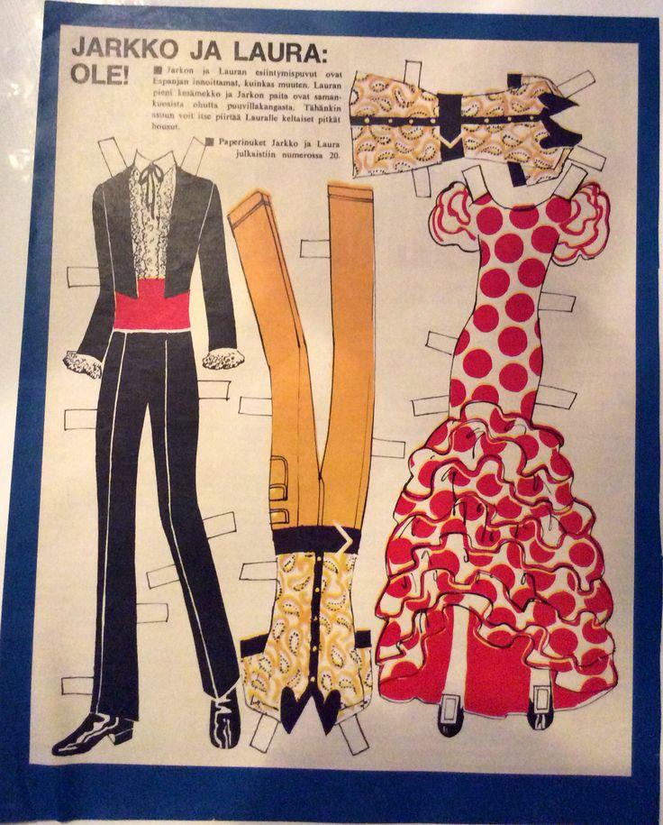 Paper Dolls Jarkko & Laura clothes 1969