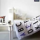 Design Letters sengetøj junior- lilla
