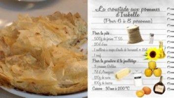 Les Carnets de Julie - Croustade aux pommes d'Isabelle...très étonnant cette façon d'étirer la pâte...