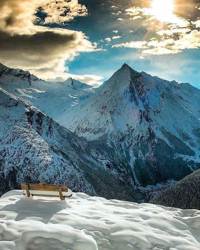 Tag who you'd sit with. Saas Fee, Switzerland.  .  Photo by @scotts_shotz