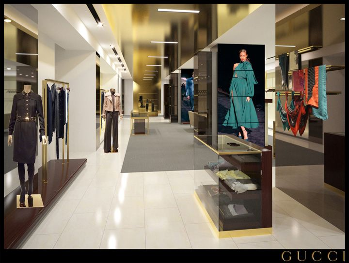 Gucci store, Milan luxury