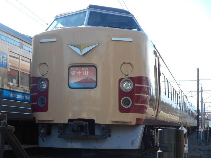 East Japan E183 Train Fuji Express Kawaguchiko station