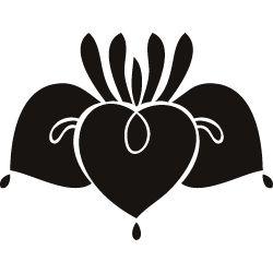 Japanese Kamon Clip Art - An iris (kakitsubata-1) 1