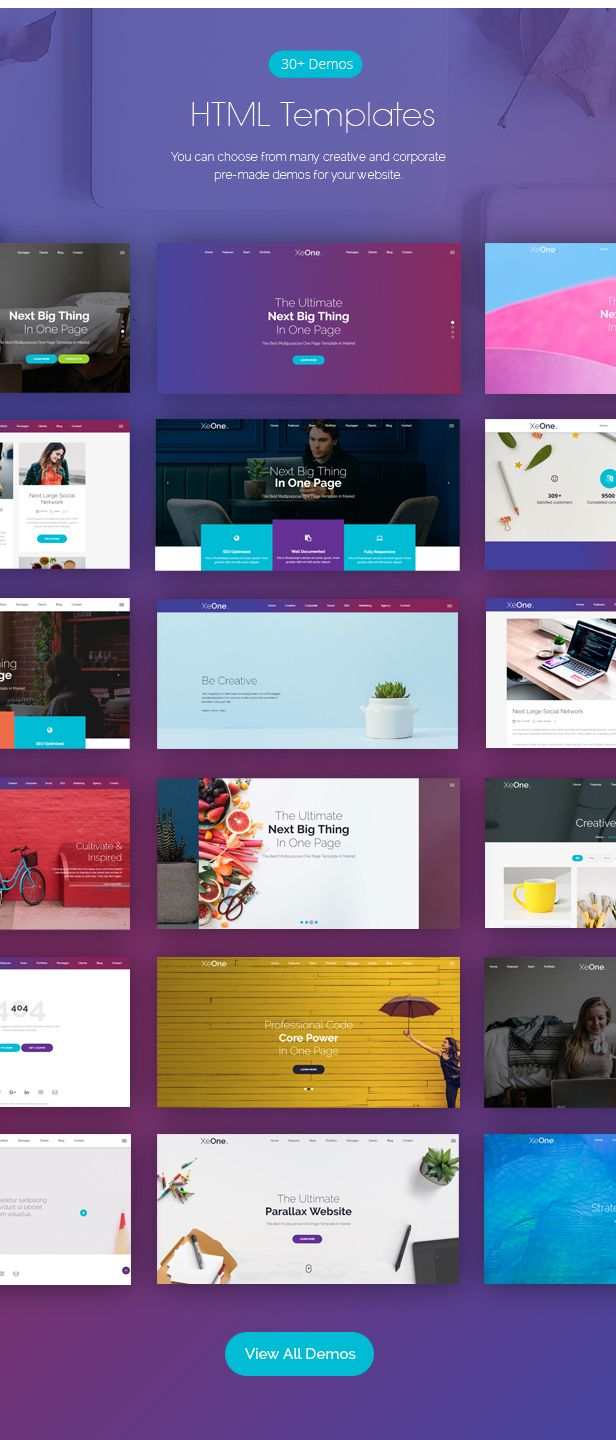 Xeone One Page Parallax Html Website Templates