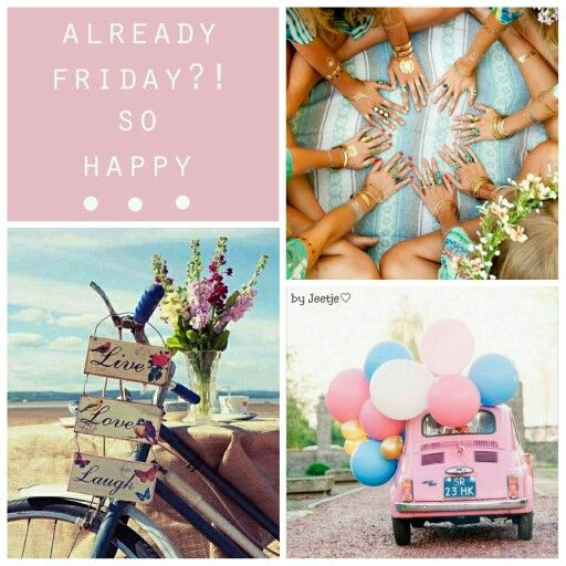 So happy it's Friday! #moodboard #mosaic #collage #inspirationboard #byJeetje♡