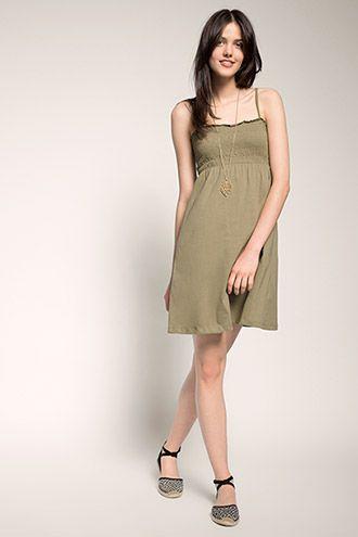 Esprit / Gesmokte jersey jurk