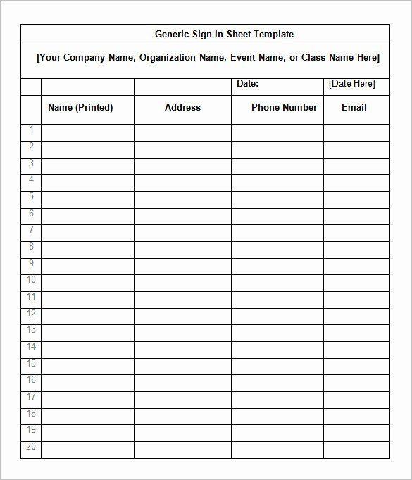 Volunteer Sign Up Form Template Elegant Registration Form Template Google Docs Unique Event Sign In Sheet Template Sign Up Sheets Create Labels
