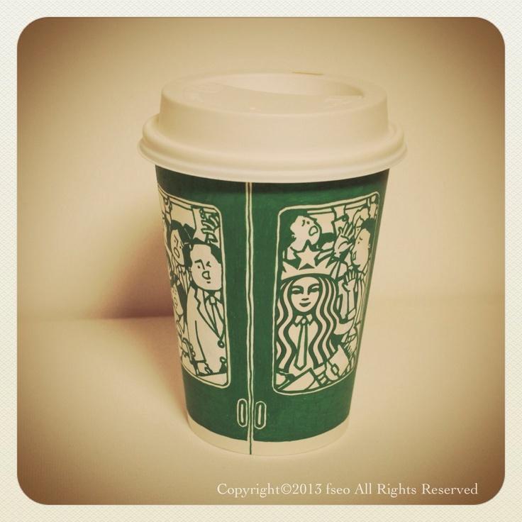 [cup art] Subway Line No.2 (2012)