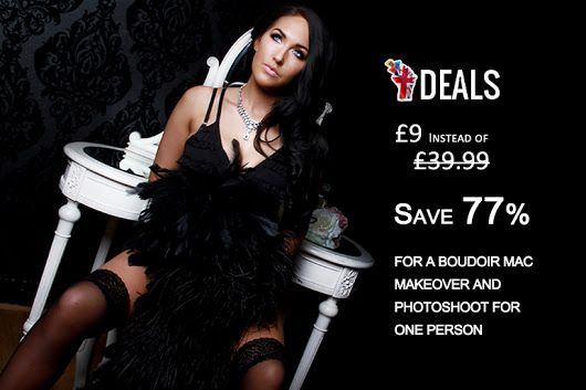£9 INSTEAD OF £39.99 FOR A BOUDOIR MAC MAKEOVER AND PHOTOSHOOT FOR ONE PERSON AT FLAWLESS PHOTOGRAPHY STUDIOS - PICK FROM THREE LOCATIONS AND #SAVE 77% http://www.grabdeals.today/uk-en/deal_detail/11784