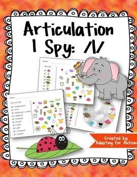 Articulation I Spy Game /l/ Edition: 3 levels of difficult