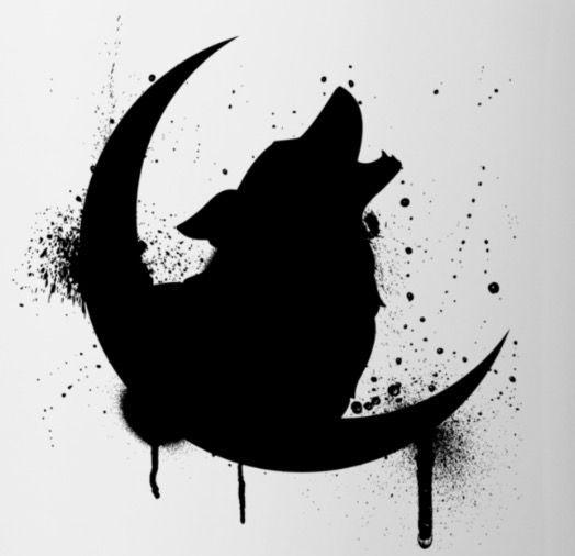 lobo e lua … sim, eu faria. Pequeno embora. Colocado ao meu lado. Mais de um só para …   – tattoo
