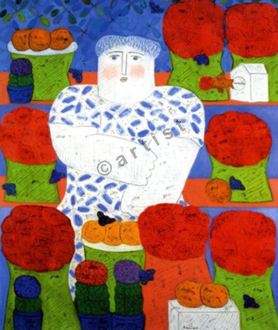 Φαίδων Πατρικαλάκις, Χωρίς τίτλο, 2009, λάδι σε μουσαμά