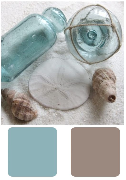 Sherwin Williams • a Good Coastal Run - nice bathroom colours Waterscape and Trusty Tan