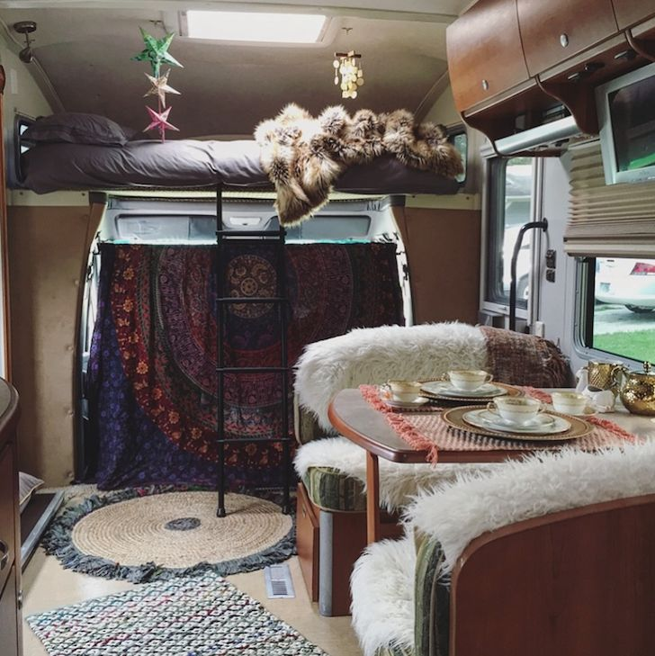 2007 Itasca Navion restyled Bohemian RV interior                                                                                                                                                                                 More