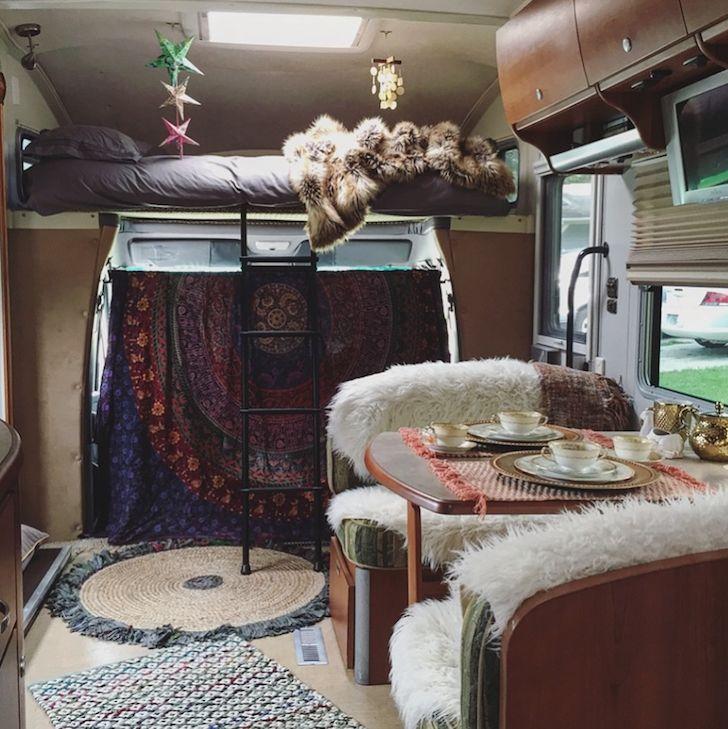 2007 Itasca Navion restyled Bohemian RV interior