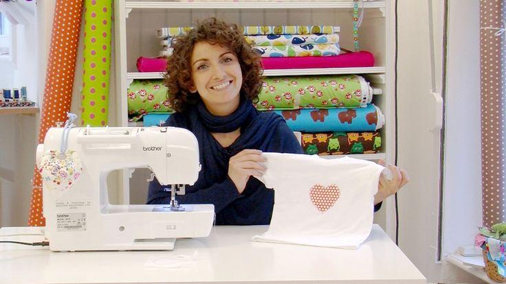 DIY Nähanleitung: Wie nähe ich eine Applikation? // diy: how to sew a fabric application via DaWanda.com