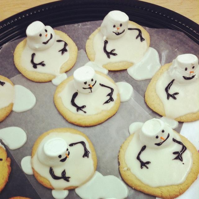 Snowman goodness from school bake sale! Yum!